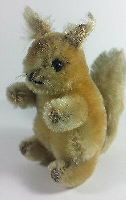 Vintage Small Steiff Soft Toy -  Possy - Red Squirrel - From 1958