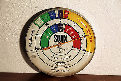 """Vintage Swix Wall Thermometer Snow Temperature Wax Nordic XC Skiing 12"""" NICE!"""