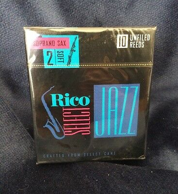 Rico Select Jazz Unfiled Soprano Saxophone Reeds Strength 2 Soft - D'Addario 2S