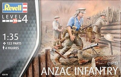 Revell - ANZAC Infantry 1915 1:35 Scale 4 Figures World War I