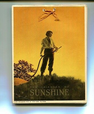 Vintage 1915 CALENDAR OF SUNSHINE weekly poems quotes