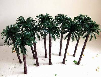 20pcs 13cm 130mm HO TT Gauge Model Train Palm Trees Sent In Box W/Tracking
