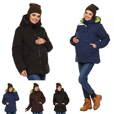 Zeta Ville - Women's Maternity Padded Jacket Removable Panel Babywearing - 075c
