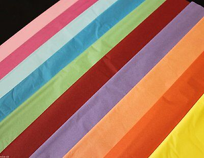 """Plain acid free tissue packaging paper 9 colours 20 sheets 20x26"""" 72sq.ft"""