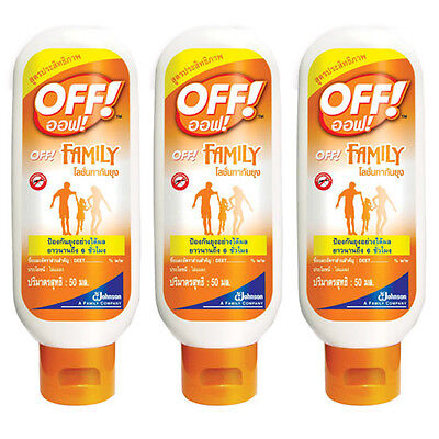 3X50ml OFF SPORT CAMPING ANTI MOSQUITO MOSQUITOE REPELLENT LIQUID INSECT LOTION