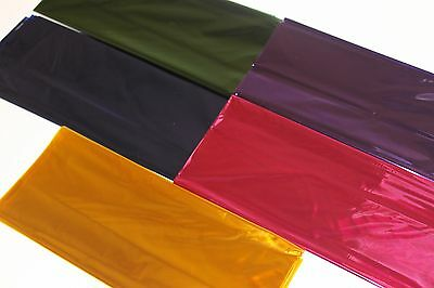 2x coloured cellophane sheets 70cmx100cm perfect for all gift wrapping purposes