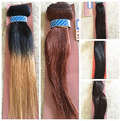 100% HUMAN HAIR by AMERICAN PRIDE - 12, 14, 18 inches Euro and Yaki weave