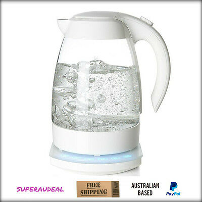 1.7Litre Glass Kettle White 2200W Variable Temperature Settings