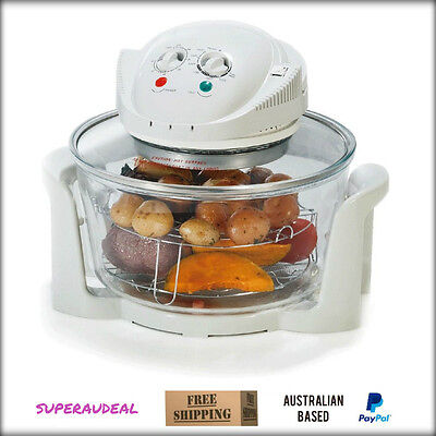 New 12 Litre Convection Oven - White - Roast/Bake/Grill/Steam/Fry/Toast/Defrost