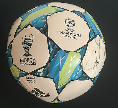 Raul Signed Champions League Real Madrid Football+Photo Proof*see Him Sign Ball*
