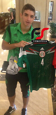 Mexico Signed World Cup Football Shirt 2014+Photo Proof*see Players Sign Shirt*