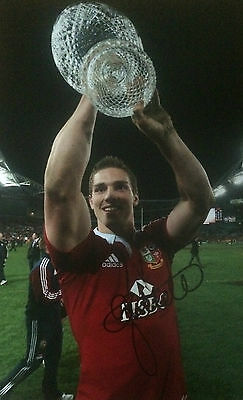 George North Signed British & Irish Lions Huge Rugby Photo