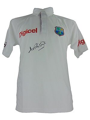 Curtly Ambrose Signed West Indies Cricket Shirt *legend* *rare* + *coa*