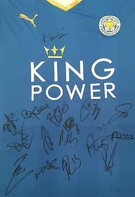 Leicester City Signed Premiership Champions Football Shirt 2016+Photo Proof