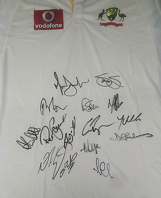 Australia Cricket Signed Shirt +Photo Proof*see Players Sign Shirt*