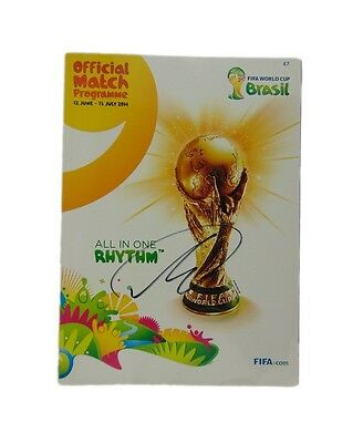 Thomas Muller Signed Germany World Cup Programme Champions 2014 + Photo Proof