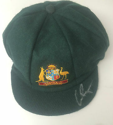 Chris Rogers Signed Australia Cricket Baggy Green Cap+Photo Proof*see Chris Sign