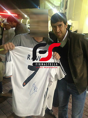 Raul Signed Real Madrid Football Shirt+Photo Proof*see Raul Sign This Shirt*