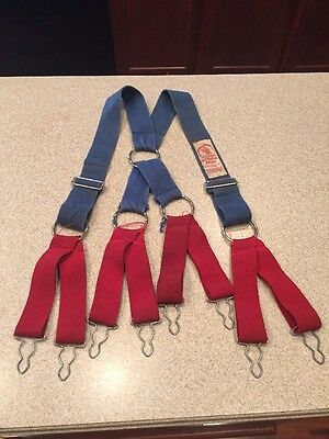 Morning Pride Honeywell Firefighter Red Blue Suspenders Firefighter Turnout Pant