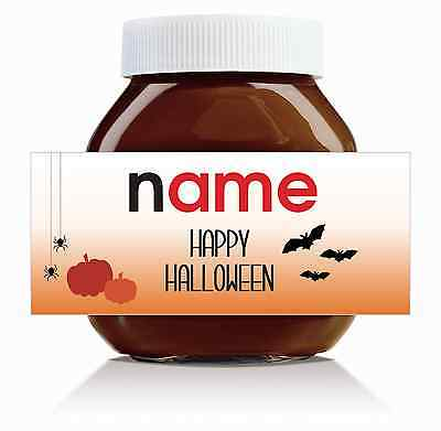 Nutella Labels! -  3 x Personalised 'Halloween' Labels for 750g Jar!