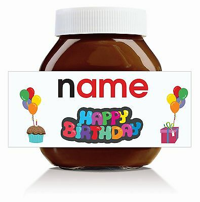 Nutella Labels! - 3 x Personalised Birthday Label for 750g Jar!