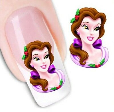 Nail Art Stickers Water Decals Transfers Disney Princesses (BLE494)