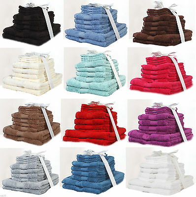 Olivia Rocco 10 Pc Towel Bale Set, 100% Pure Egyptian Cotton Towels, 550 GSM