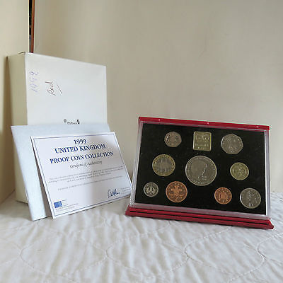 1999 UK ROYAL MINT DELUXE PROOF COIN SET - complete