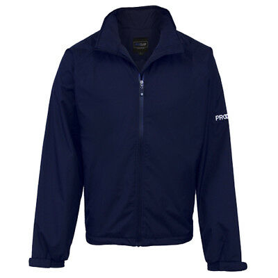 Proquip Mens Aquastorm Waterproof Full Zip Jacket Navy Blue - New Golf Top Coat