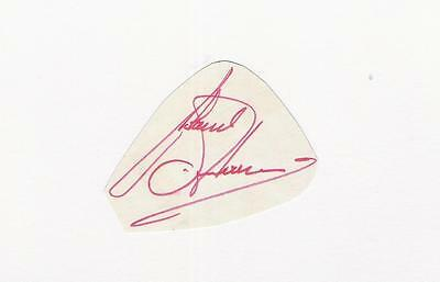 A white card clipped autograph. Personally signed by footballer Roland Andersson