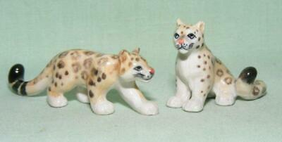 Klima Miniature Porcelain Animal Figures Pair of Mini Snow Leopards X878