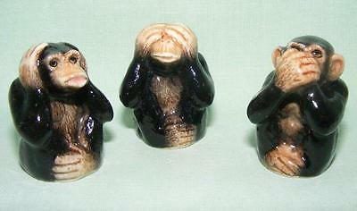 Klima Porcelain Three Wise Monkeys Thimbles K533