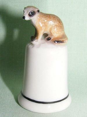 Klima Porcelain Meerkat Sitting on Thimble L968