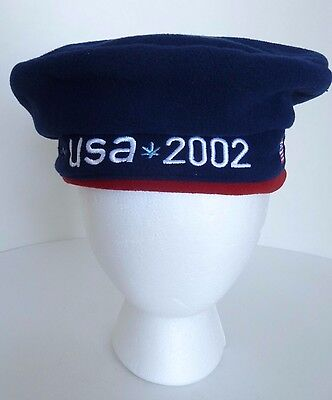 USA Olympic Team 2002 Official Outfitter Roots Beret One Size Hat Cap. New w Tag