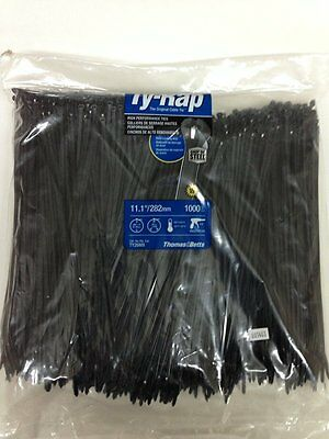T&B TY26MX 11IN Black Cable Tie 1,000/Bag