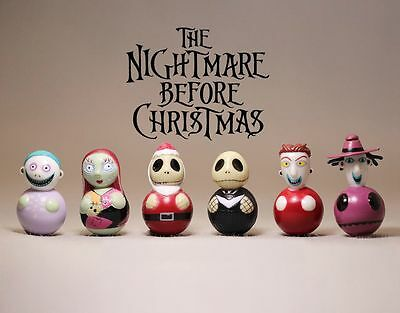 Nightmare Before Christmas tumbler Cute Cake Topper Figure Toy Set of 6pcs UK