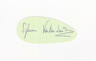 A white card clipped autograph. Personally signed footballer Sylvain Kastendeuch