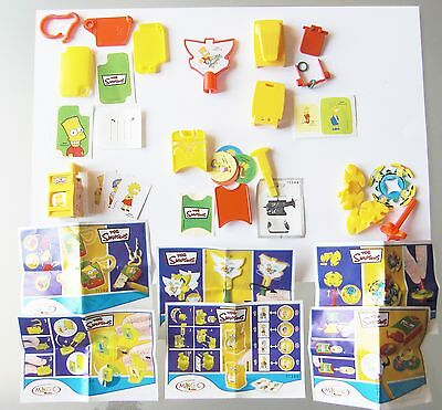 Kinder The Simpsons 2008 Serie Completa Componibili Con Cartine