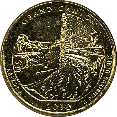 "2010-P ""Grand Canyon"" America The Beautiful Quarter Gold Plated Coin"