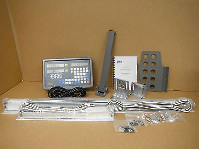 "Bridgeport mill, MILLING MACHINE 9""x 42"" X and Y AXIS DRO system package NEW!"