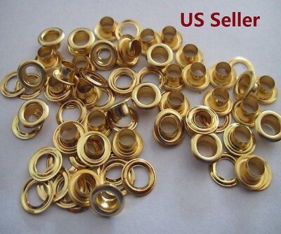 Brass Plating Gold Eyelets with Washers Clothing Grommets Scrapbook  6/8/10mm