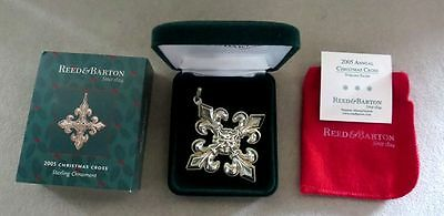 2005 Reed & Barton Sterling Silver Christmas Ornament New In Original Box / Coa