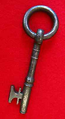 Rare 1700's Iron Skeleton Key w/ Ring Bow - More Antique Old Vintage Keys here