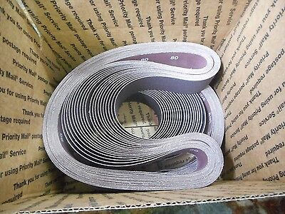 "40 Norton Metalite R228 2"" X 42"" Belts, X-WT Cotton Back, Alum.Ox. 80 Grit"