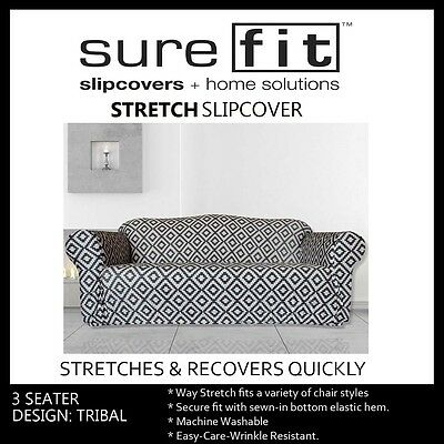 3 Seater Surefit Stretch Couch Lounge Sofa Cover | Slipcover | Tribal Print
