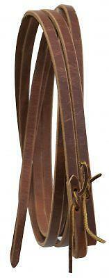 "Showman USA MADE 8' x 5/8"" Western Leather Split Reins! NEW HORSE TACK!"