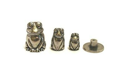 Frog Russian Doll Pewter Thimble Stacking Dolls Set Collectible Thimbles NEW