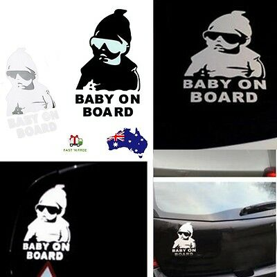 Baby On Board Decal Reflective Waterproof Car Window Vinyl Stickers Warning