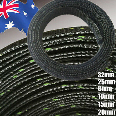 10m Braided Cable Sleeve Techflex Flexo Expandable 8 10 15 20 25 32mm TTUBE23