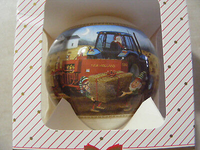FORD Tractor ~~ New Holland Baler  ~~ Christmas Ornament